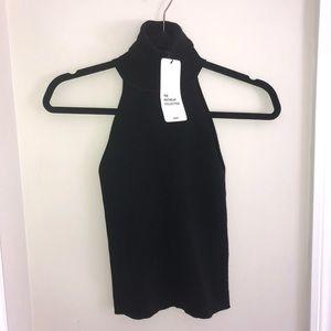 Zara black knit tank